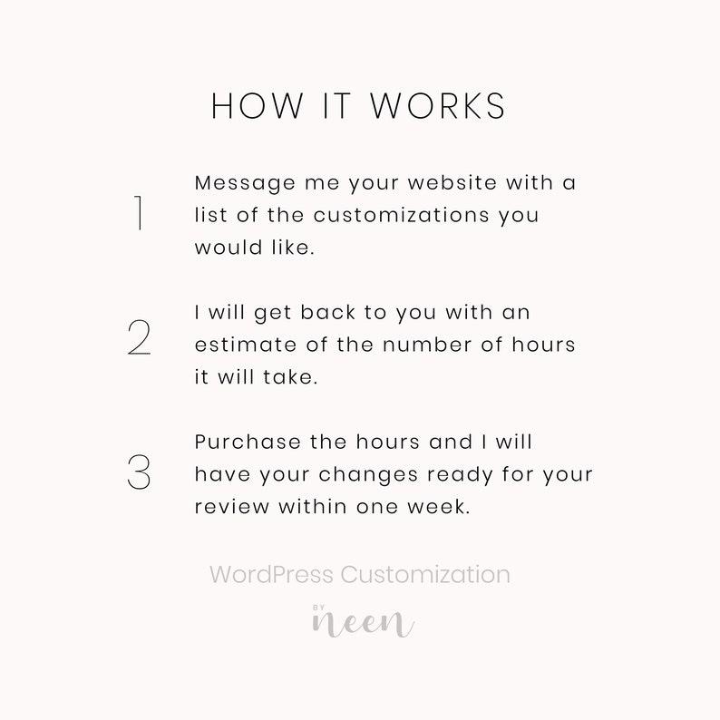 WordPress Customization by Neen \u2013 WordPress Changes \u00b7 WordPress Support \u00b7 Hourly WordPress Help \u00b7 WordPress Maintenance