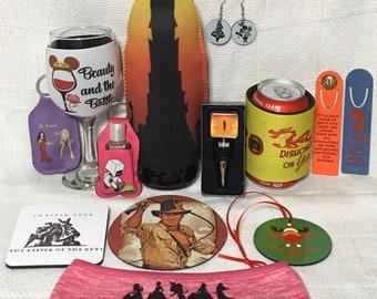 Harry Potter koozie gift under 10 Ron Weasley Fandom Can Cooler Hermione Harry Potter 9 34 Can Cooler gift for her Fandom Gifts