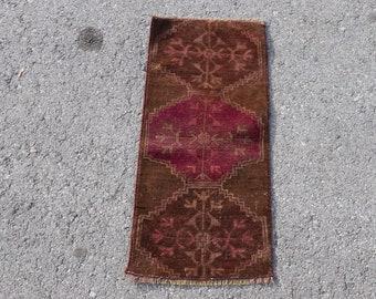 door mat  turkish rug 3,1 x 1,6 ft turkish rug v\u0131ntage rug