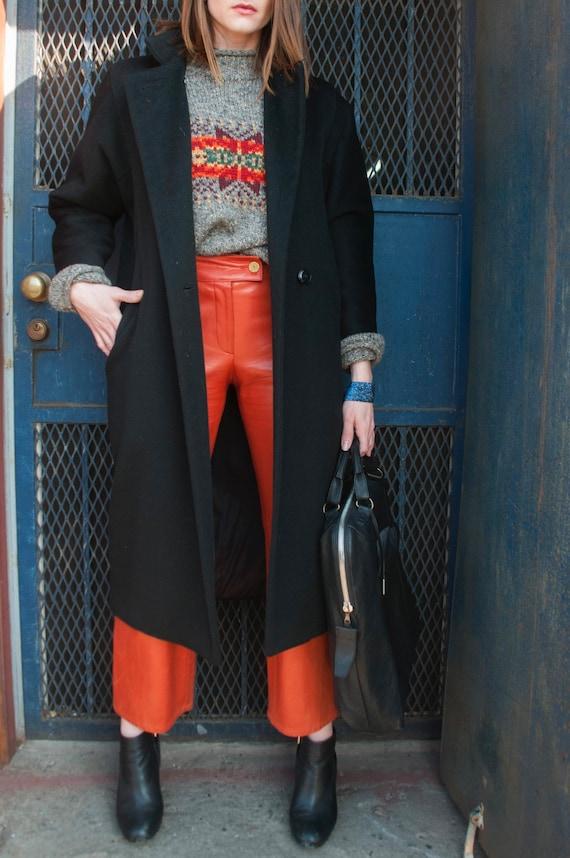 Vintage CHANEL burnt orange genuine leather gaucho