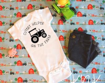 Cutest Helper on the Farm Baby Bodysuit