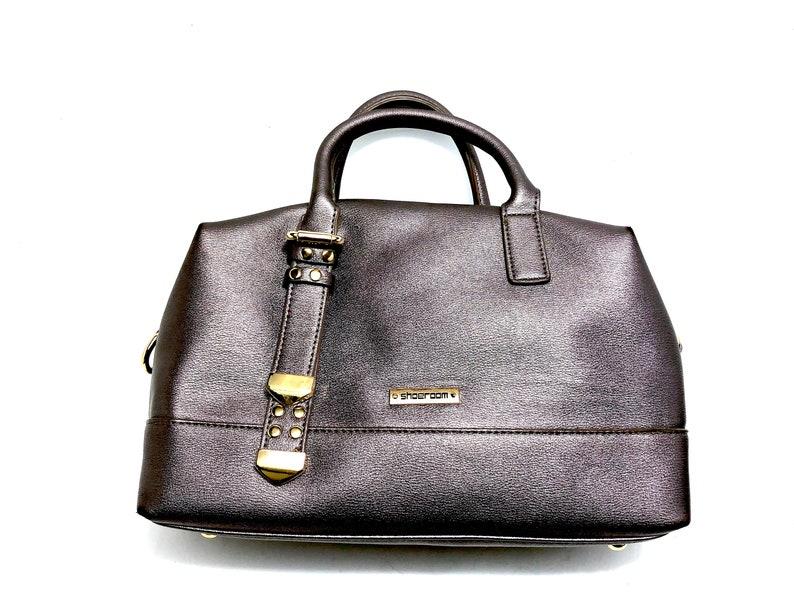 SHOEROOM Purple Metallic Hand Bag