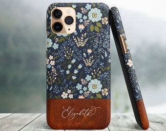 Blue Flowers Custom Case, iPhone 13 Pro Max, iPhone 12, iPhone 13 Mini, iPhone 11, iPhone 11 Pro Max, iPhone SE2020, iPhone 8 Plus, iPhone X