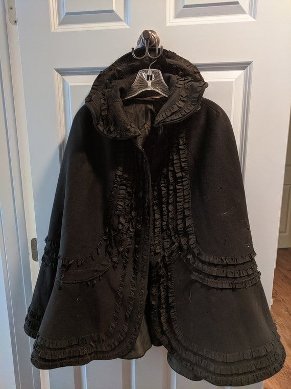 Heavy Wool Victorian Cape