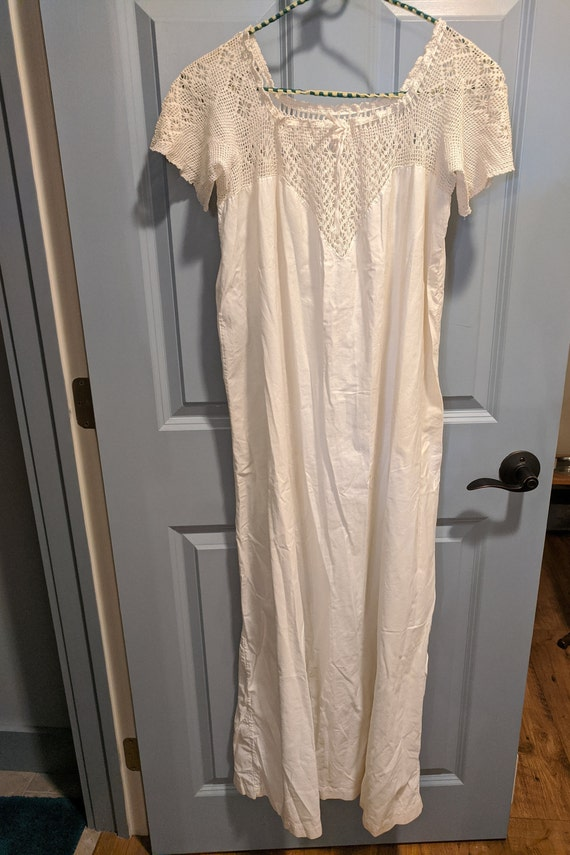 Group of Three Victorian White Nightgowns and a Pe