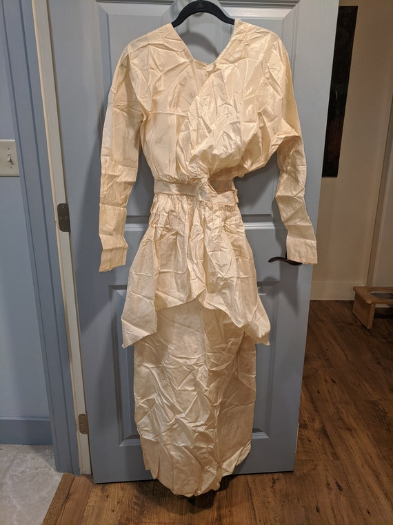 Ivory Taffeta Edwardian Dress