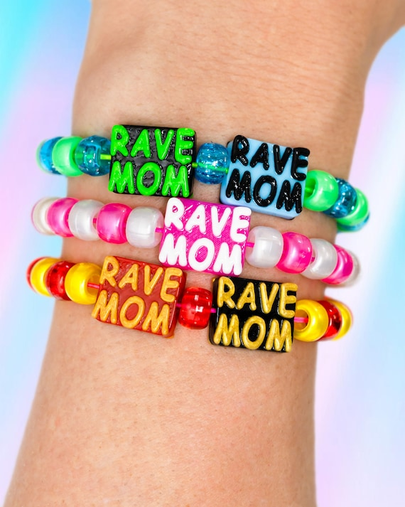 Kandi Rave Bracelet 10+ Pack Good For Jewellery Rave Mom Plastic Beads Canadian Beads From Canada