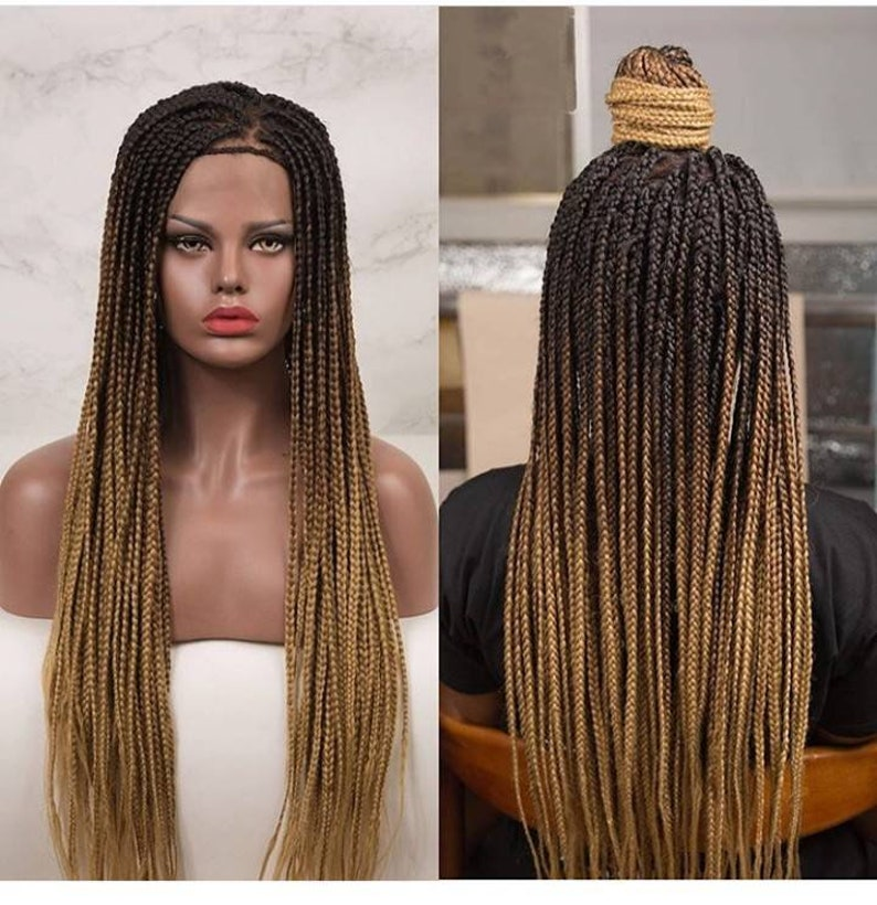 Knotless Box Braids Wig Micro Braided Wigs Passion Twist