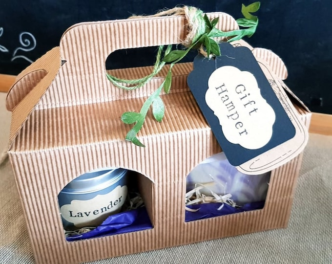Featured listing image: GIFT HAMPER - Eco Soy Wax Candle & Natural Handmade Soap