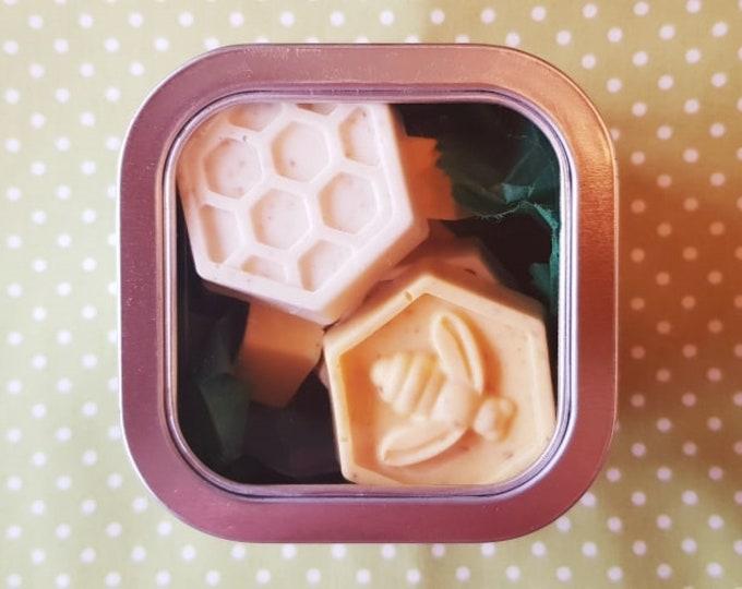 Featured listing image: HONEYCOMB SOAPS - Honey & Oatmeal Shea Soap Bars