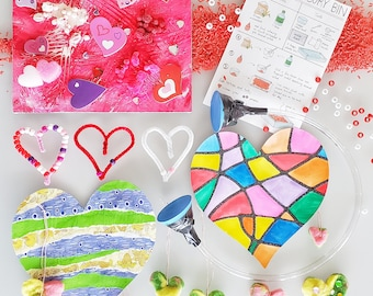 Kids Art Box | Hearts Art and Crafts | Mommy & Me Art Box | Preschool Art, Crafts and Science | Montessori | Kids Hands-on-Learning
