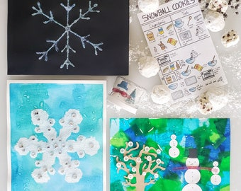 Winter Art Kit | Winter Crafts | Mommy & Me Art Box | Preschool Art, Crafts and Science Subscription | Montessori | Kids Hands-on-Learning