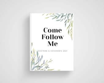 Come Follow Me Journal. Doctrine and Covenants Scripture Study LDS Printable Youth 2021.