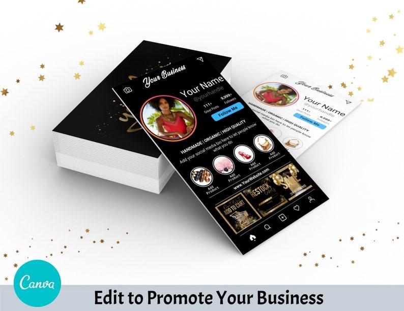 diy instagram profile business cards canva template