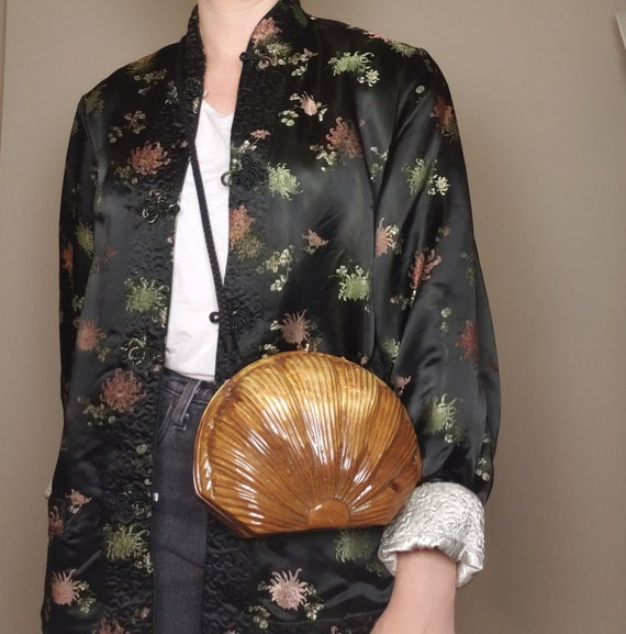 """Vintage 80s Timmy Woods """"Clam Shell"""" purse"""