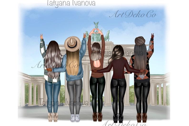 Best friends clipart Afro girls clipart Bff clipart Besties clipart Soul sisters clipart Friends clipart