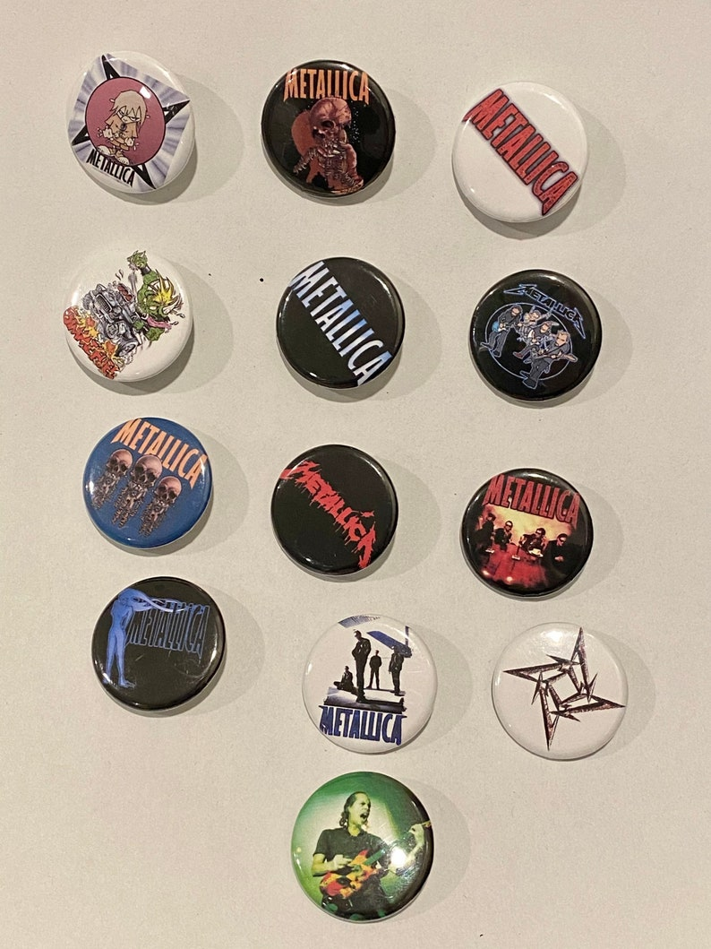 Vintage Metallica Pin Button Pack