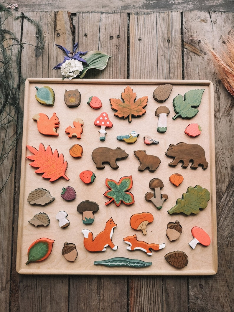 wooden puzzle forest big