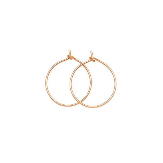 M GOLD HOOPS