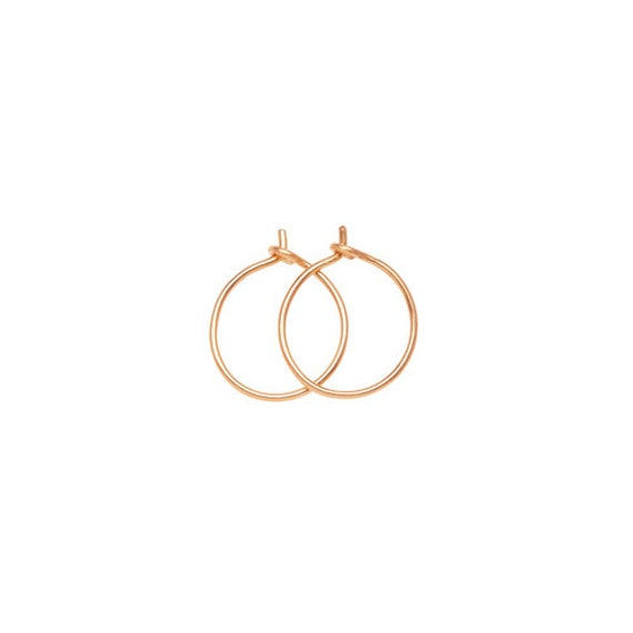S GOLD HOOPS