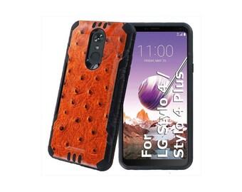 Bumper Phone Case for LG Stylo 4,Ostrich Print