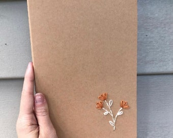 Embroidered Journals- Florals, Mountains, Succulents, & MORE