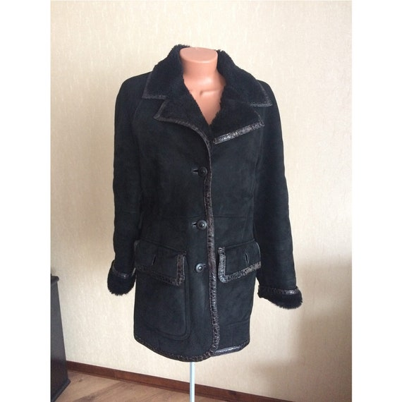 Vintage womans Sheepskin Shearling Jacket Coat
