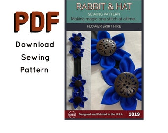 Flower Skirt Hike, Brooch, or Hair Clip Accessory PDF1019 New Rabbit and Hat Sewing Instructions with Photos for  for Renaissance Costume