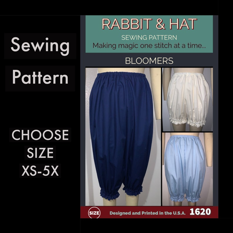 BLOOMERS 1620 New Rabbit and Hat Sewing Pattern   Choose Size image 0