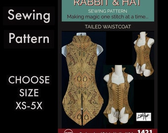 Pirate Tailed Waistcoat With Collar 1421 New Rabbit and Hat Sewing Pattern Step by Step Photo Instructions