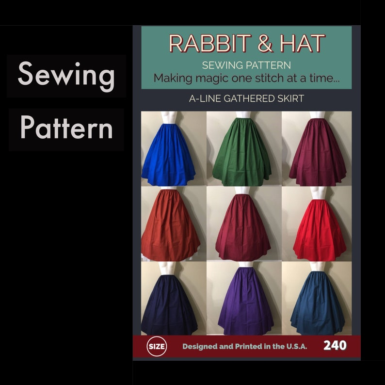 Gathered Waist A-Line Skirt 240 New Rabbit and Hat Sewing image 0