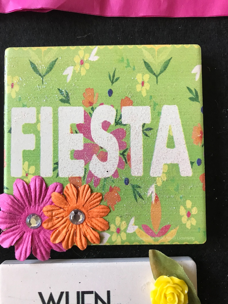 Bar Party Up-Cycled No Easels Tequila Gift Friend Lime Salt Fiesta Coasters
