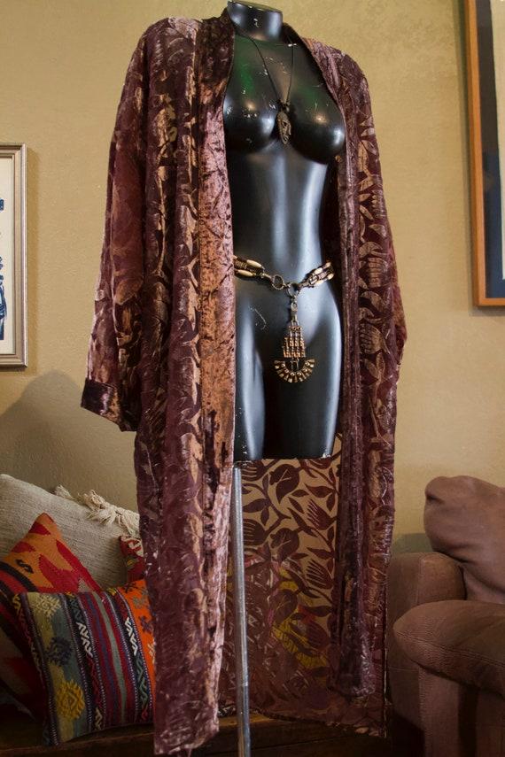 Burnout Velvet Long Robe