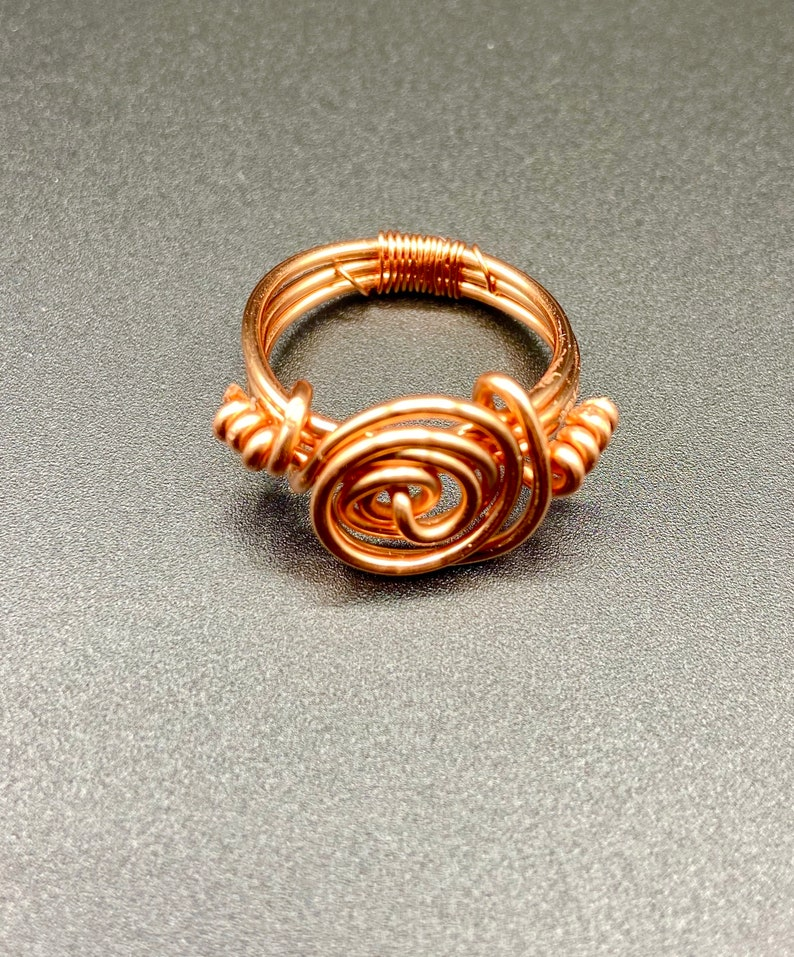 Copper Wrapped Ring.