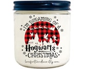 HOGMEADES VILLAGE CANDLE, Christmas Village gift, Ready to ship, Christmas Gift, Hogmeades