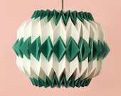 chi art deco paper origami lampshade with colour accents