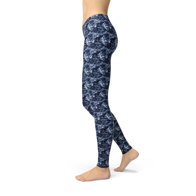 MOMMY /& ME Navy Crystalline Fitness Casual Leggings