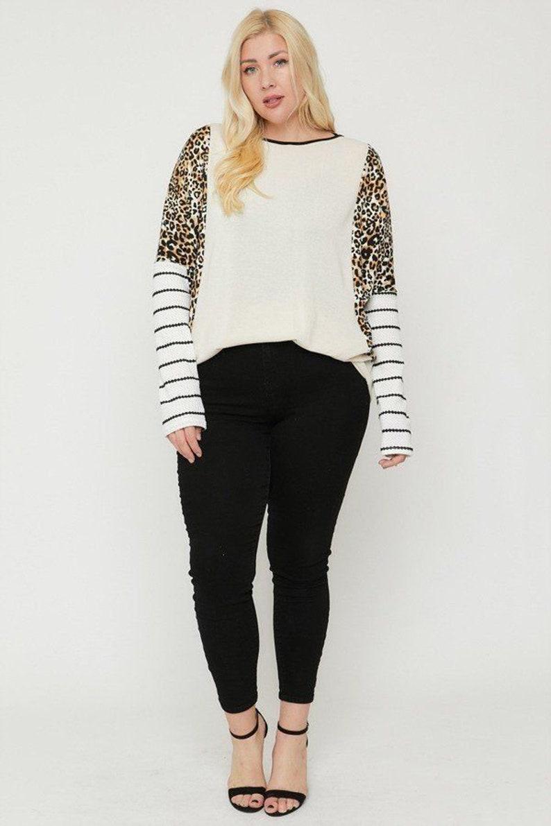 Cheetah Print Long Sleeve Top
