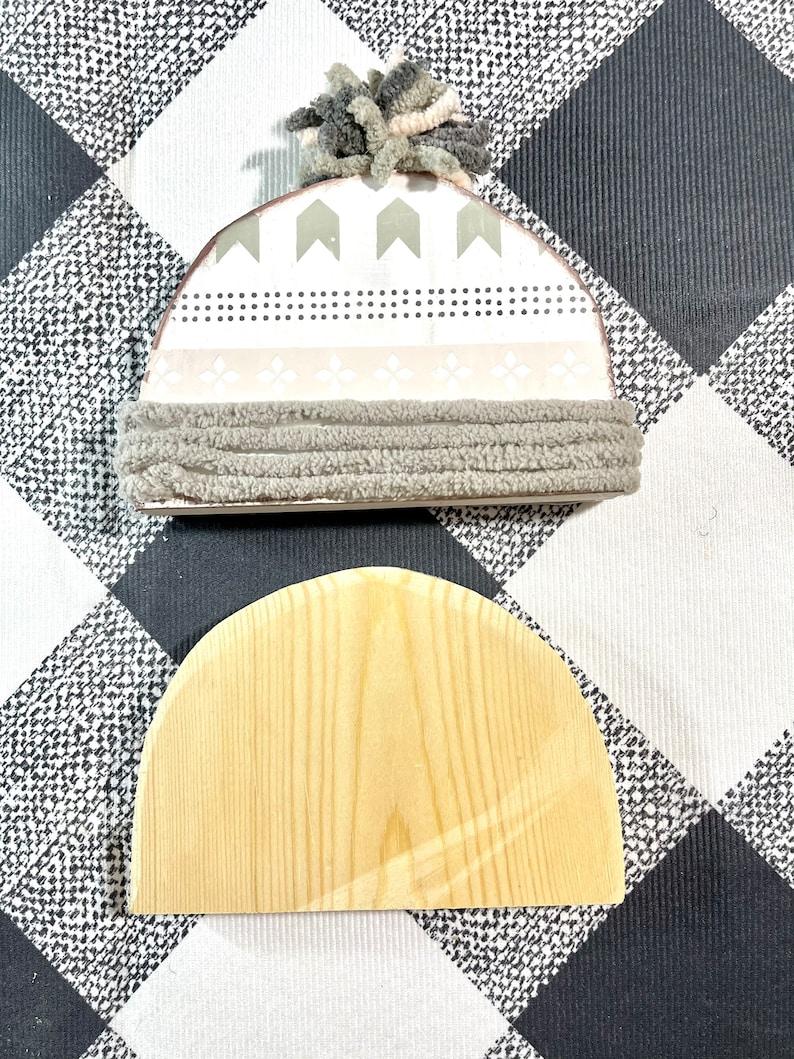 Toboggan and hat wood cutout-hat cutout-tier tray decor-tier tray craft-chalk couture wood cutouts-wood cutouts-magnolia designs