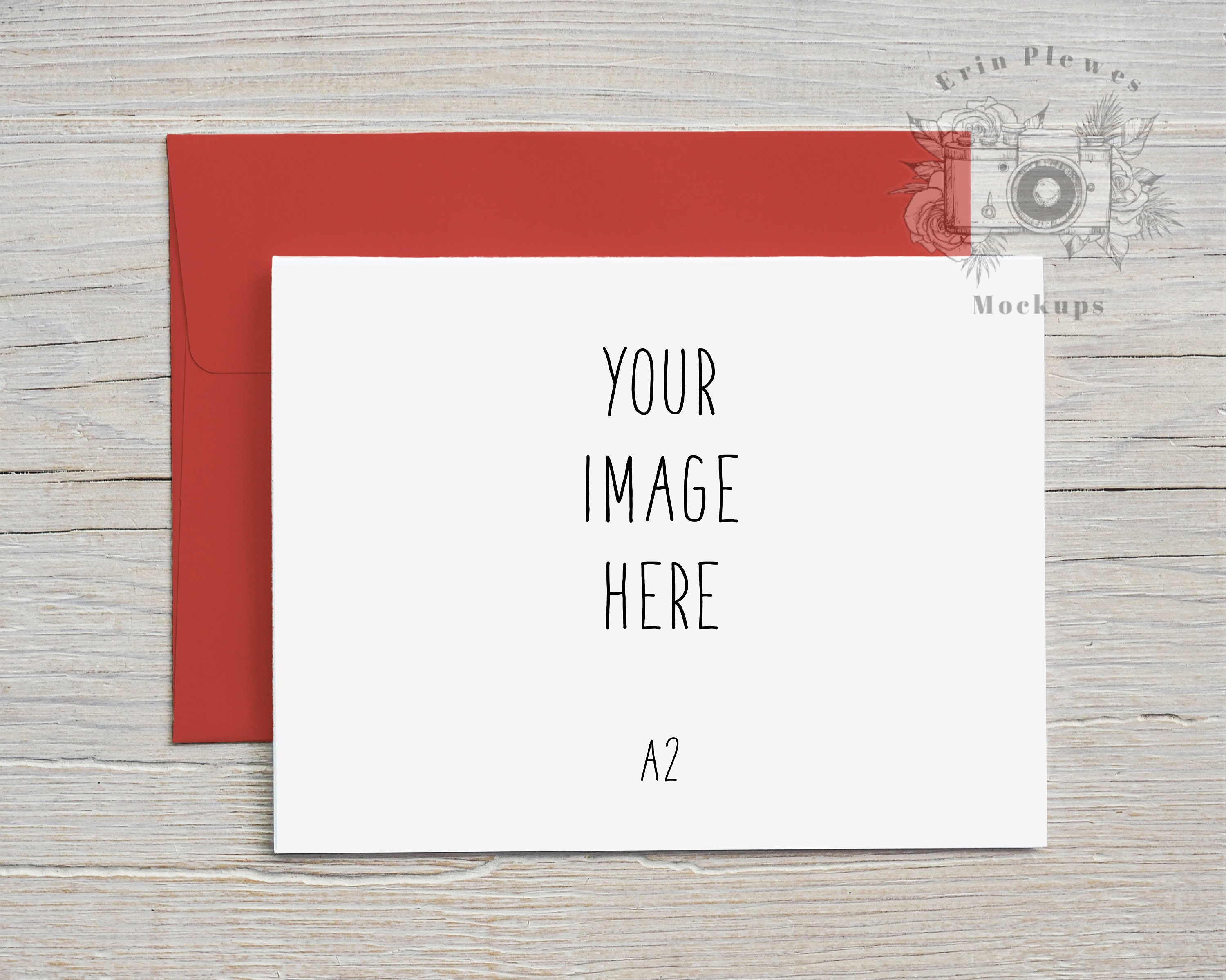 A21 Card Mockup Red Envelope, Greeting Card Mock-up Landscape, Christmas  Card Lifestyle Photo Template, Jpeg Instant Digital Download Regarding A2 Card Template