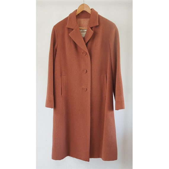 Classic 1950's to 1960 Womens Camel hair coat