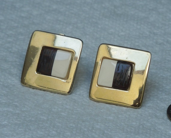 Lanvin signed French Clip Earrings Vintage 1970's… - image 1