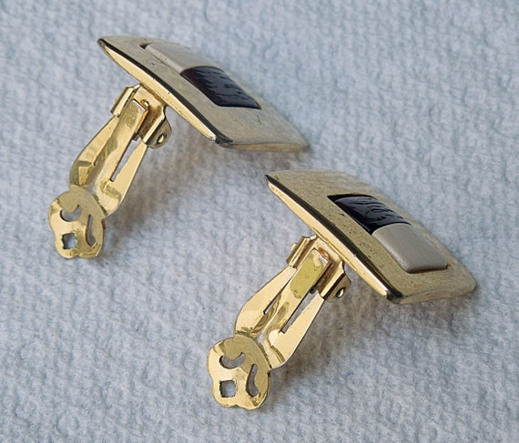 Lanvin signed French Clip Earrings Vintage 1970's… - image 5