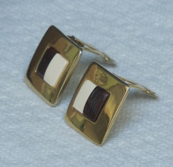 Lanvin signed French Clip Earrings Vintage 1970's… - image 3