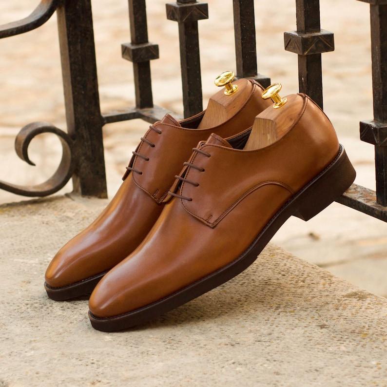 Blake Stitched Medium Brown Boxcalf Custom Made Men/'s Derby