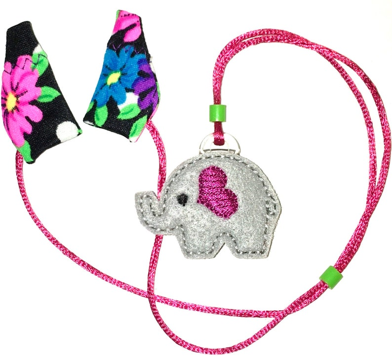 Childs infant toddler Hearing Aids with Covers safety Leash loss retainer cord clip .. ELEPHANT ..FREE SH!