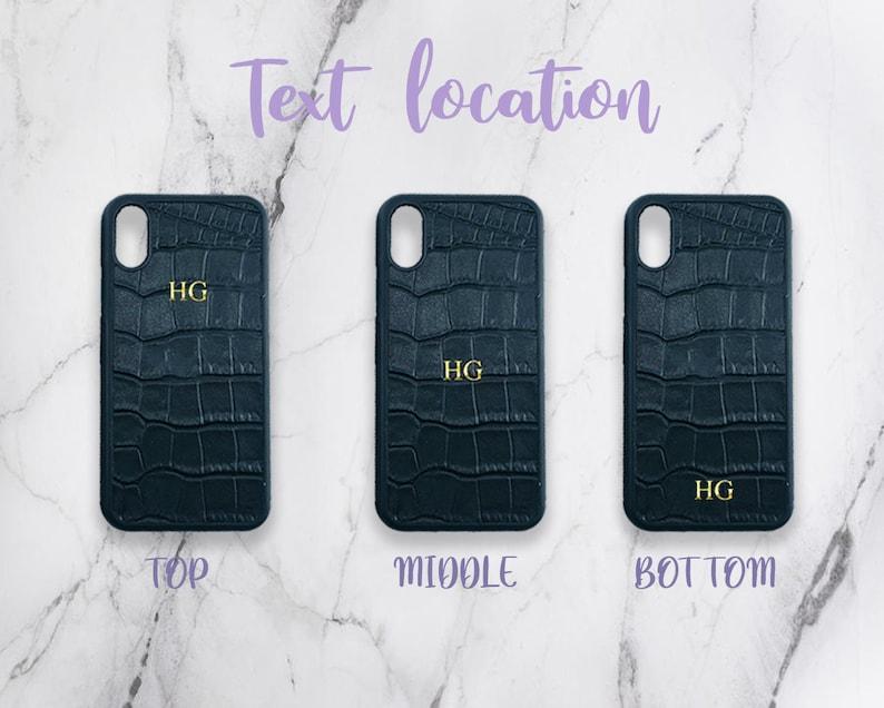 X XR 8 Plus 7 SE Saffiano Leather iPhone Case Personalised Hot Foil Debossed Custom Initials or Names iPhone 12 Pro Max 11 Mini XS