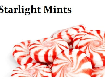 Starlight Peppermint Candies Hair Pins polymer clay miniature food jewelry