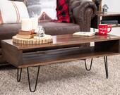 Brown coffee table, Modern coffee table, Mid-century coffee table, Rustic coffee table,wood coffee table, custom coffee table,Christmas gift
