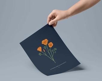 Digital Download / California Poppy Print